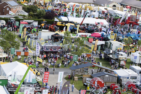 sightsee: Harrogate, North Yorkshire, UK. 15th July, aerial view of the Great Yorkshire Show 15th July, 2015 at Harrogate in North Yorkshire,  England Editorial