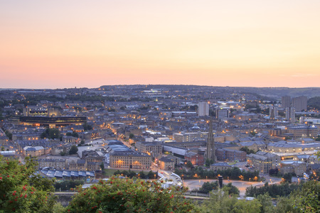 Halifax at sunset, West Yorkshire UK Standard-Bild