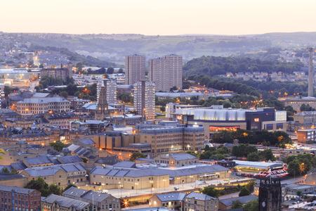 Halifax at dusk, West Yorkshire UK Editorial
