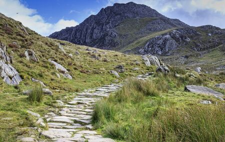 snowdonia: path in snowdonia national park, UK. Stock Photo