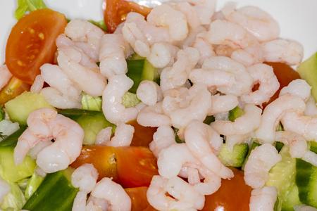 shrimp cocktail: shrimp cocktail appetizer with salad