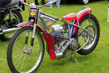 fad: Elland, Halifax, West Yorkshire, UK 20th September, 2015. motor bike, local Rotary Club members of Elland hope the current fad for all things  from the 40s and 50s will make their first Vintage Weekend a big success.