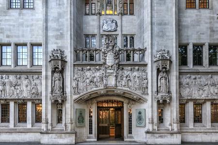 ordenanza: LONDRES, Reino Unido - 02 de octubre 2015: Construcción del Comité Judicial del Consejo Privado. El Comité Judicial del Consejo Privado es uno de los más altos tribunales en el Reino Unido
