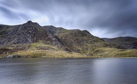 snowdonia: A lake in snowdonia national park Stock Photo