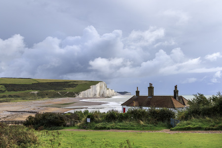 seven sisters: Seven Sisters Cliffs in the south downs sussex UK