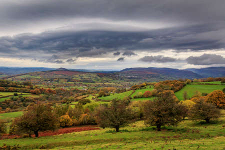 Stormy autumn day in wales