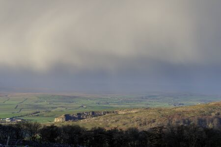 yorkshire dales: Stormy day in the Yorkshire Dales National Park, England Stock Photo