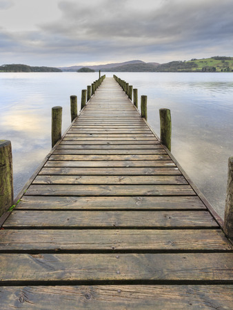 lake district: Coniston Water in the lake district UK