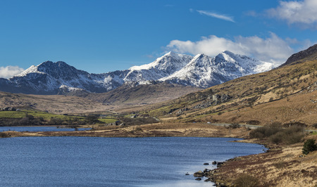 The beautiful landscape of Snowdonia national park, Wales.