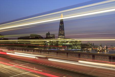 city night: The shard London at night