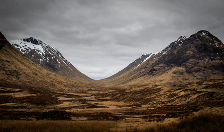 snow capped mountains: Snow capped mountains in Glencoe Scotland, UK