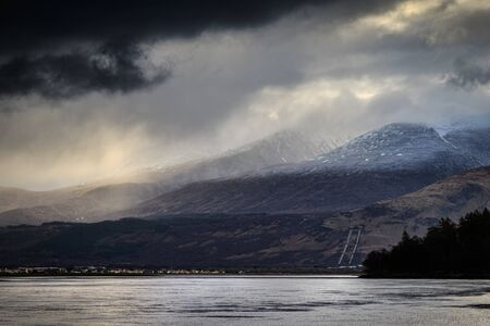 william: Fort william on a stormy day, scotland UK.