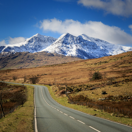snowdonia: The beautiful landscape of Snowdonia national park, Wales.