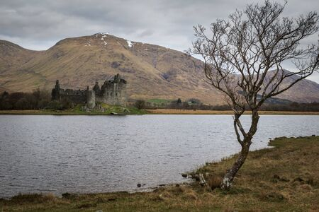 15th century: Kilchurn Castle, 15th century castle, Argyll and Bute, Scotland