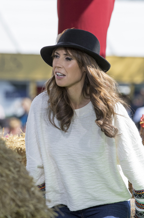 Harrogate, England - July 15th, 2015:  Alex Jones wit Crowds watching at rehearsal for  the One show at The Great Yorkshire Show 15th July, 2015 at Harrogate in North Yorkshire,  England