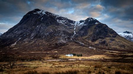 glencoe: Cottage in Glencoe, Scotland UK. Stock Photo