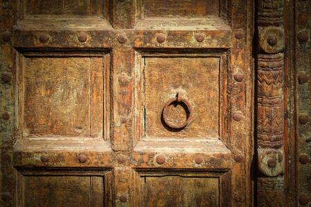 Old wood and iron door in spain