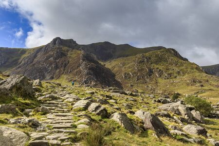 snowdonia: The beautiful Snowdonia national park in Wales. Stock Photo