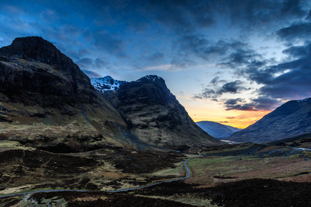 Glencoe sunset , Scotland UK.