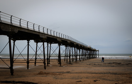 Pier at Saltburn by the Sea, North Yorkshire coast, UK. Stock Photo