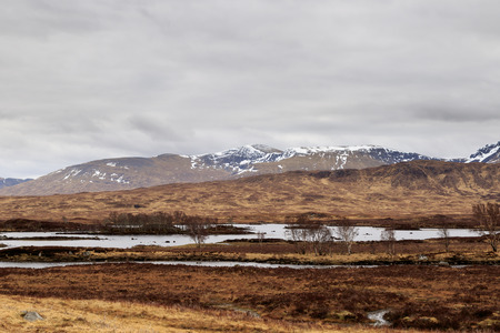 Rannoch Moor landscape, The Scottish Highlands, UK. Stock Photo