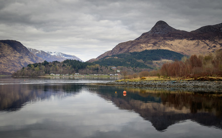 glencoe: Loch leven, Glencoe, Scotland UK. Stock Photo