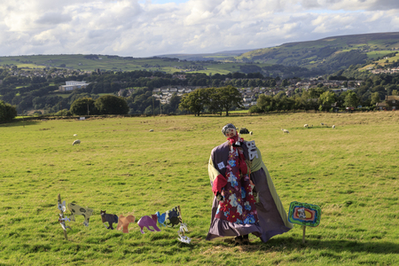 Norland, Halifax, West Yorkshire, UK 2nd September, 2016. Norland Scarecrow Festival 2nd Sept - 5th Sept 2016. This years theme is �books� The Norland Scarecrow festival has been held every year since 2000 and raises money for the village and local chari Editorial