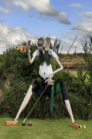 """Norland, Halifax, West Yorkshire, UK 2nd September, 2016. BFG , Norland Scarecrow Festival 2nd Sept - 5th Sept 2016. This years theme is """"books"""" The Norland Scarecrow festival has been held every year since 2000 and raises money for the village and l"""