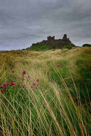 Bamburgh Castle on the Northumberland coast. Editorial