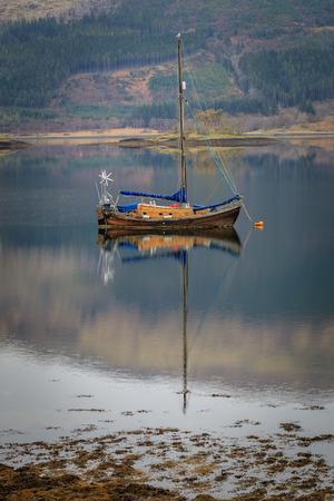 Boat on the Loch in Scotland UK