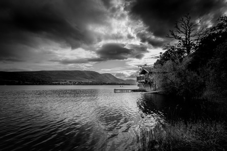 Boathouse in Pooley Bridge, Lake District, Cumbria Stock Photo