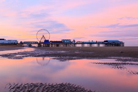 A beautiful Blackpool Sunrise on the west coast of the UK
