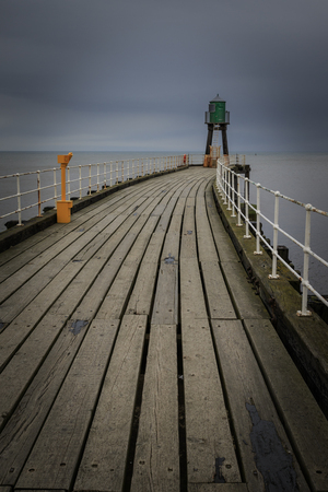 Whitby Pier, Whitby, North Yorkshire, UK.