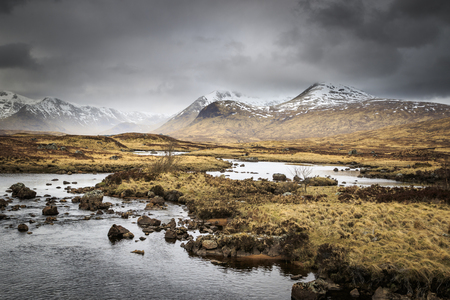 Rannoch Moor landscape, The Scottish Highlands, UK.
