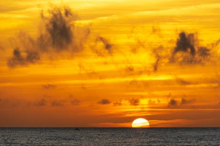 Sunrise over caleta de fuste beach , Fuerteventura, Spain