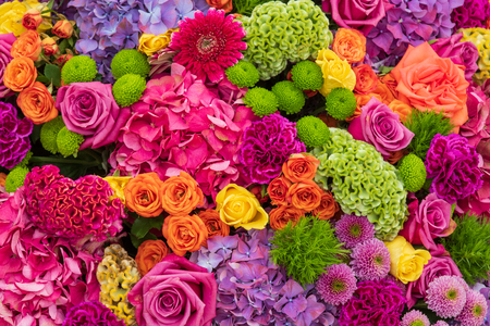 A beautiful bouquet of flowers Stock Photo