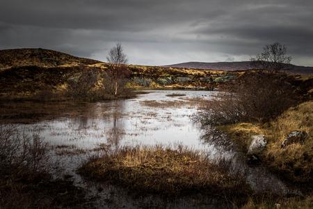 Rannoch Moor landscape, The Scottish Highlands, UK. 写真素材