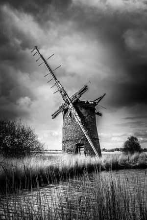 Brograve mill windpump on the Norfolk Broads