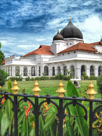 Kapitan Kling Mosque in Georgetown, Penang, Stock Photo