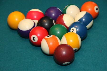 A nice bright shot of racked pool balls Reklamní fotografie