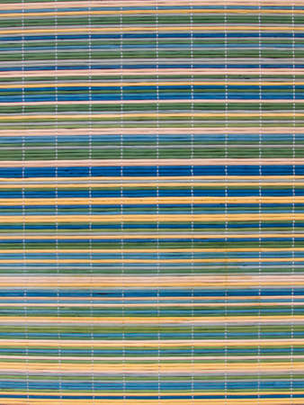 straw twig: Blue, Green, Yellow and Beige colored Rattan