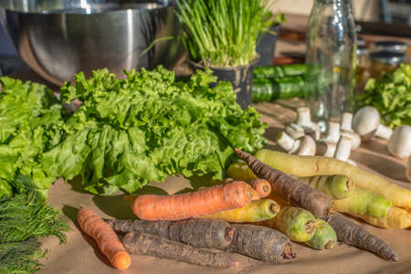 fresh groceries vegetable on a table