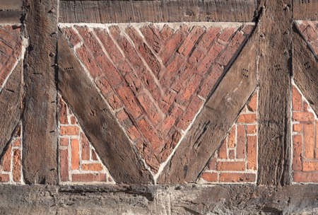 framed: timber framed brick stone wall background texture