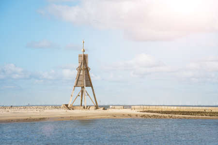 Kugelbake landmark in Cuxhaven, Germany 写真素材