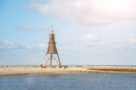 Kugelbake landmark in Cuxhaven, Germany 版權商用圖片