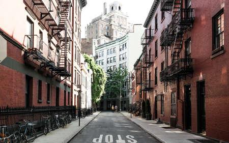New York City, NY, USA 05.29.2016 Street in Greenwich Village, Manhattan Editorial