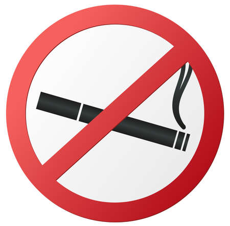 red round no smoking sign vector illustration