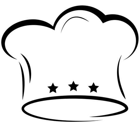 toque chefs hat icon with three stars vector illustration Banque d'images - 104993308