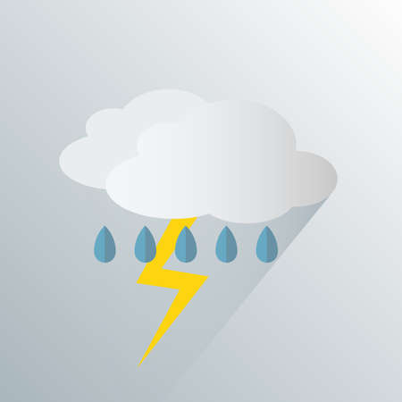 simple thunderstorm weather icon symbol vector illustration