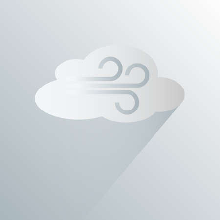 simple wind storm weather icon symbol vector illustration
